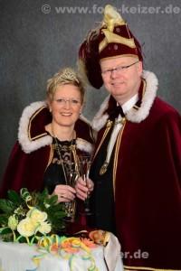 Prinzenpaar 2015 Stefan und Petra Hüwe